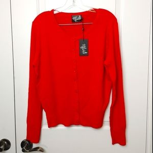 Hell Bunny Red Cardigan Size XL